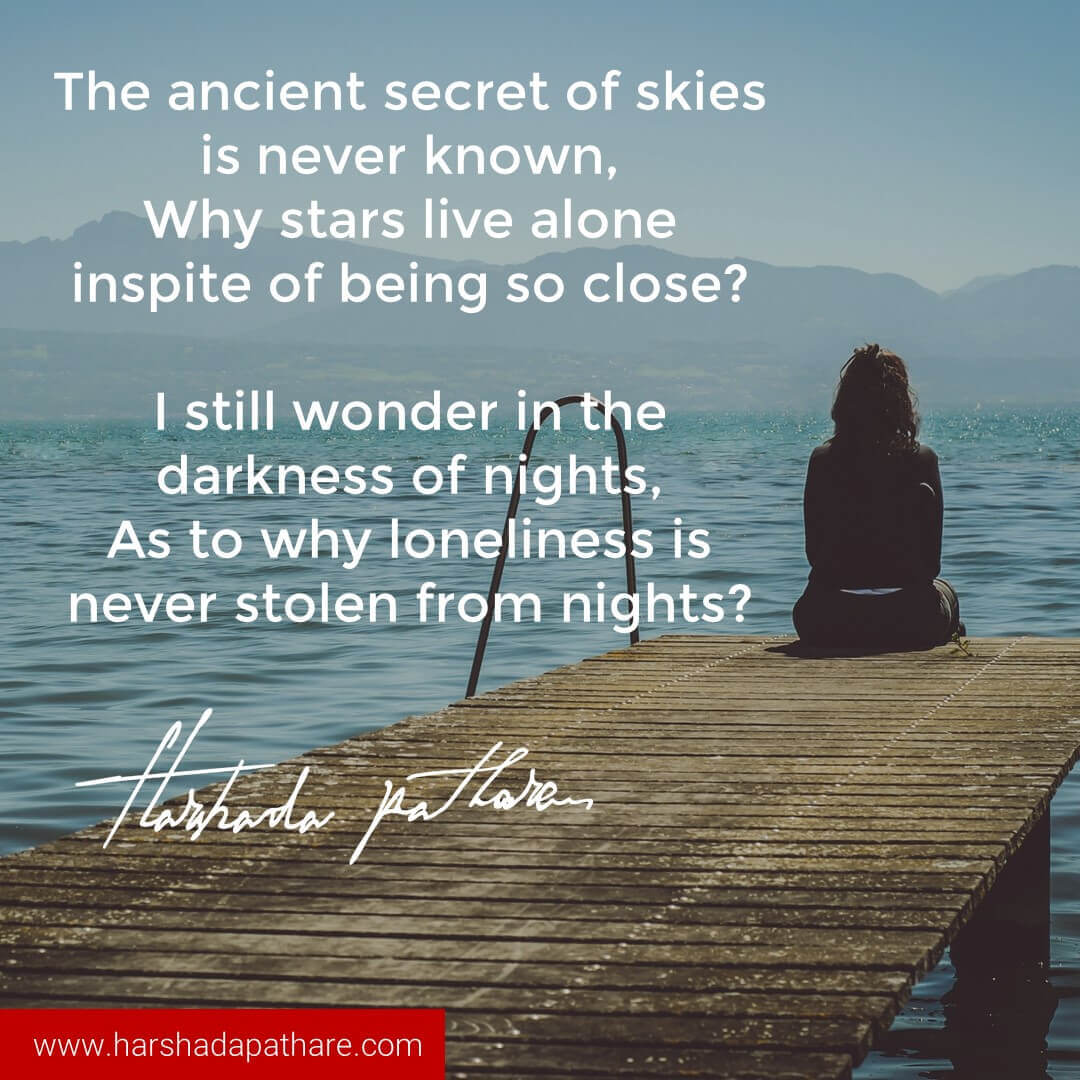 Inspirational Quotes On Loneliness: Harshada Pathare I Author, Thought